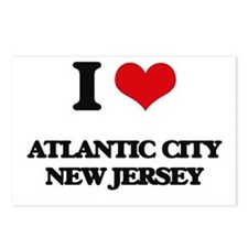 I love Atlantic City New Postcards (Package of 8)