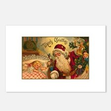 Victorian Santa Claus Scene Postcards (Package of