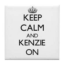 Keep Calm and Kenzie ON Tile Coaster