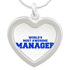WORLD'S MOST AWESOME Manager-Fre blue 600 Necklace
