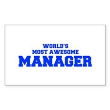 WORLD'S MOST AWESOME Manager-Fre blue 600 Decal