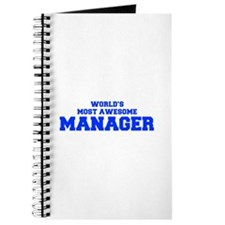 WORLD'S MOST AWESOME Manager-Fre blue 600 Journal