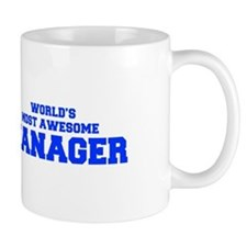 WORLD'S MOST AWESOME Manager-Fre blue 600 Mugs