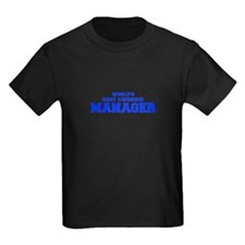 WORLD'S MOST AWESOME Manager-Fre blue 600 T-Shirt
