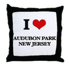 I love Audubon Park New Jersey Throw Pillow