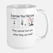 Exercise Your Demons (tired) Mugs