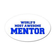 WORLD'S MOST AWESOME Mentor-Fre blue 600 Wall Deca