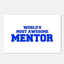 WORLD'S MOST AWESOME Mentor-Fre blue 600 Postcards