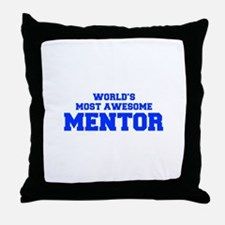 WORLD'S MOST AWESOME Mentor-Fre blue 600 Throw Pil