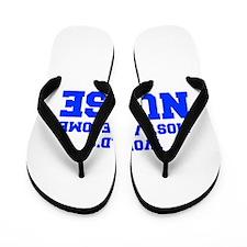 WORLD'S MOST AWESOME Nurse-Fre blue 600 Flip Flops