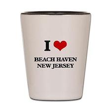 I love Beach Haven New Jersey Shot Glass
