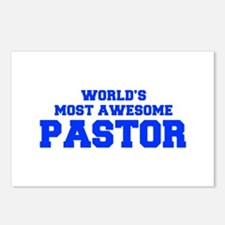 WORLD'S MOST AWESOME Pastor-Fre blue 600 Postcards