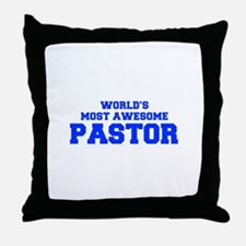 WORLD'S MOST AWESOME Pastor-Fre blue 600 Throw Pil