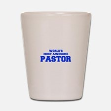 WORLD'S MOST AWESOME Pastor-Fre blue 600 Shot Glas