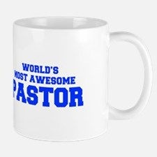 WORLD'S MOST AWESOME Pastor-Fre blue 600 Mugs