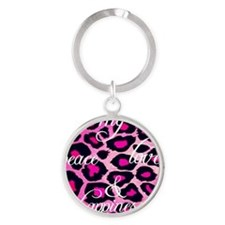 My peace love & happiness Round Keychain