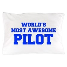 WORLD'S MOST AWESOME Pilot-Fre blue 600 Pillow Cas
