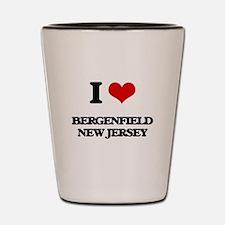 I love Bergenfield New Jersey Shot Glass