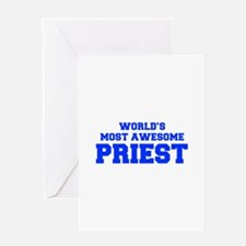 WORLD'S MOST AWESOME Priest-Fre blue 600 Greeting