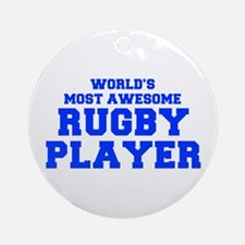 WORLD'S MOST AWESOME Rugby Player-Fre blue 400 Orn