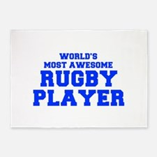WORLD'S MOST AWESOME Rugby Player-Fre blue 400 5'x