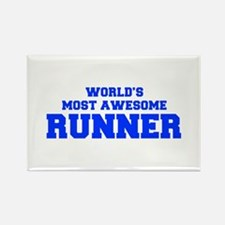 WORLD'S MOST AWESOME Runner-Fre blue 600 Magnets