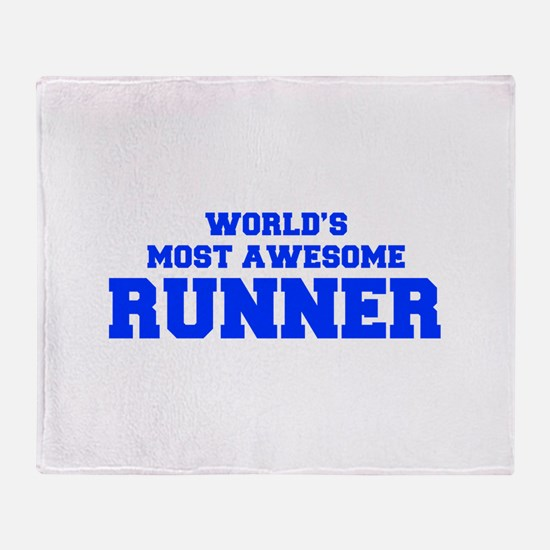 WORLD'S MOST AWESOME Runner-Fre blue 600 Throw Bla