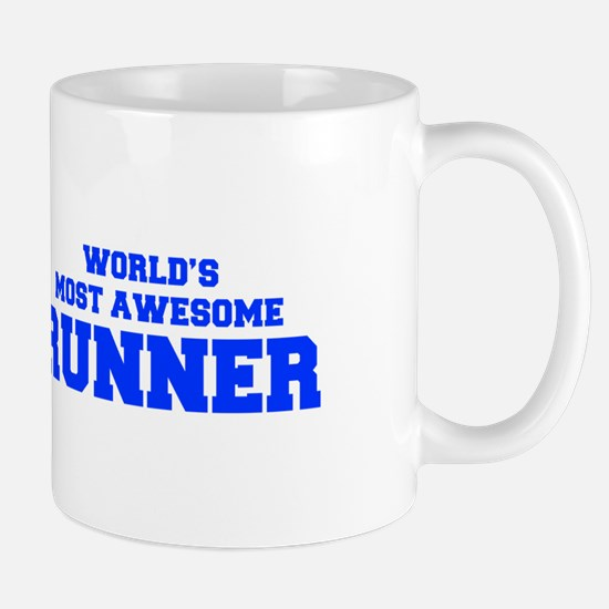 WORLD'S MOST AWESOME Runner-Fre blue 600 Mugs