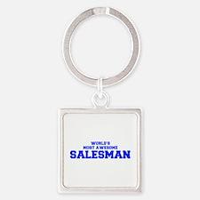 WORLD'S MOST AWESOME Salesman-Fre blue 600 Keychai