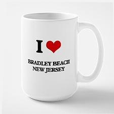 I love Bradley Beach New Jersey Mugs