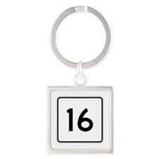 State Route 16, Maine Square Keychain