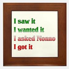 I Asked Nonno Framed Tile