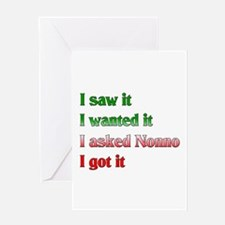 I Asked Nonno Greeting Card