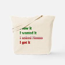 I Asked Nonno Tote Bag