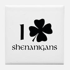I Shamrock Shenanigans Tile Coaster