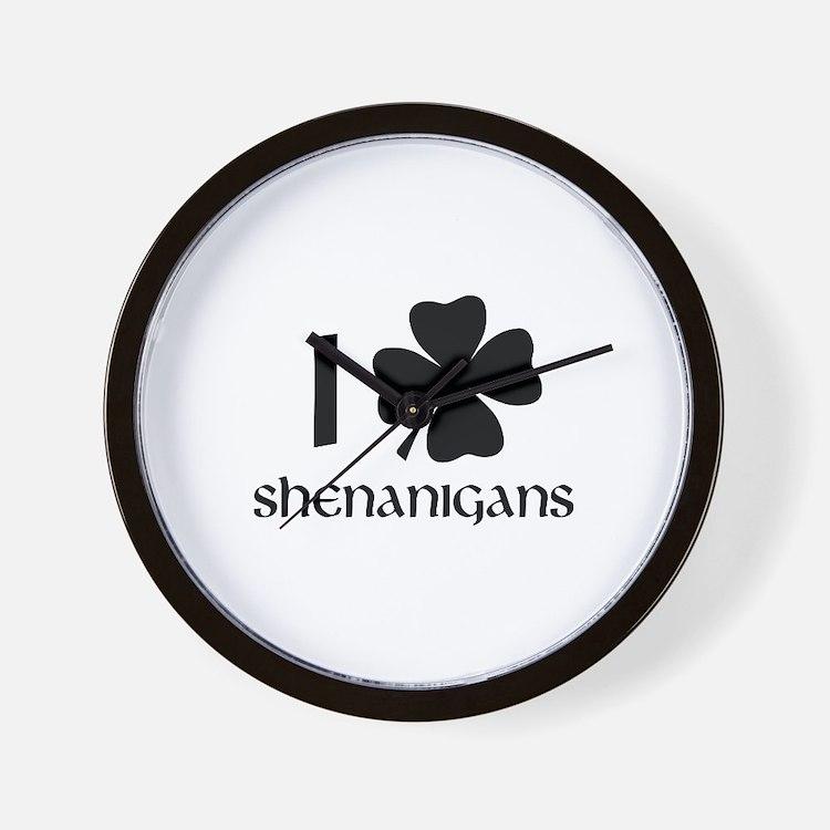 I Shamrock Shenanigans Wall Clock
