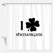 I Shamrock Shenanigans Shower Curtain