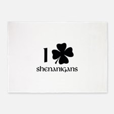I Shamrock Shenanigans 5'x7'Area Rug