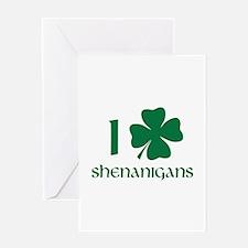 I Shamrock Shenanigans Greeting Card