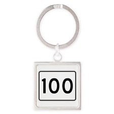 State Route 100, Maine Square Keychain