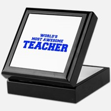 WORLD'S MOST AWESOME Teacher-Fre blue 600 Keepsake
