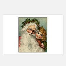 Classic Victorian Christmas Santa Postcards (Packa