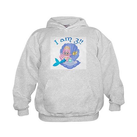 Lil Mermaid 3rd Birthday Kids Hoodie