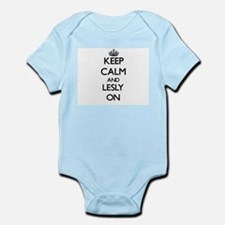 Keep Calm and Lesly ON Body Suit