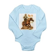 Cute Stallion Long Sleeve Infant Bodysuit