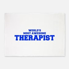 WORLD'S MOST AWESOME Therapist-Fre blue 600 5'x7'A