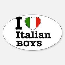 I love Italian Boys Oval Decal