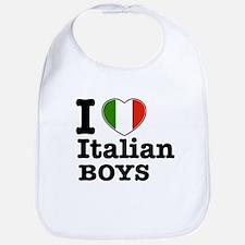 I love Italian Boys Bib