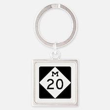 M-20, Michigan Square Keychain
