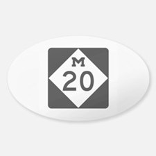 M-20, Michigan Sticker (Oval)
